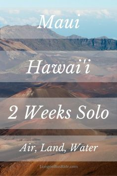 How I spent 2 weeks in Maui, Hawaii solo. I did everything from SCUBA to paragliding.  I also tell you about my budget accommodation.