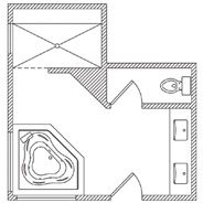 KOHLER | Floor Plan Options | Bathroom Ideas & Planning | Bathroom |
