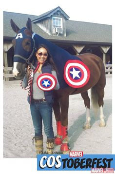 Costoberfest 2014: Rachel Boscov's horse Captain America #costumeinspiration