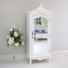 Italian French Rococo Louis wardrobe / armoire in White iN STOCK! in Home, Furniture & DIY, Furniture, Wardrobes | eBay