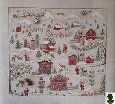 Christmas Village da Sara Guermani - Schemi Punto Croce - Ricamo - Casa Cenina