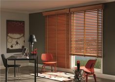 Love this classic look and the warmth wood blinds add to a room!! Wood Blinds with accent Cloth Tapes from www.budgetblinds.com