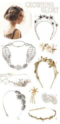 i cannot begin to say how glamorous and magical these head pieces are!    #gold #hairbands