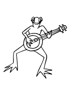 string musical instruments coloring pages and links to learn and listen to the instruments