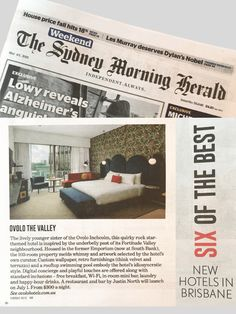Custom wall vinyl for Ovolo The Valley. Sydney Morning Herald, May 4-5, 2019