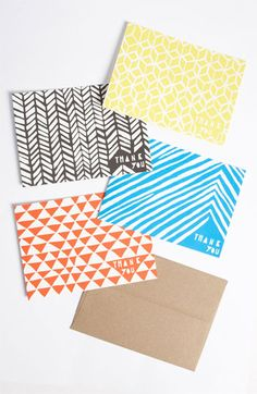 Thank You Cards-pattern hand touch
