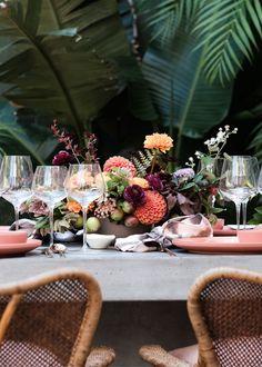 Dine alongside the palms.