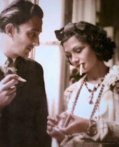 Salvador Dali and Coco Chanel, 1930s