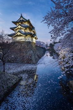 Hirosaki Castle in the evening by João Maia.  Japan  See it at http://j.mp/1tjULM7