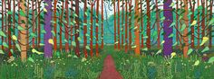 David Hockney 'The Arrival of Spring in Woldgate, East Yorkshire in 2011 (twenty eleven)'