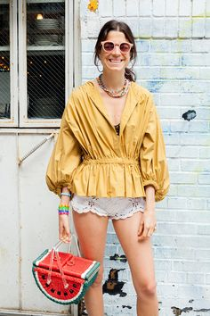 Every of July requires at least two outfit changes. For your convenience, Leandra& planned three. Party Fashion, Fashion Outfits, Womens Fashion, Street Chic, Street Style, Smoking, Fashion Silhouette, Dress Indian Style, Girls Summer Outfits
