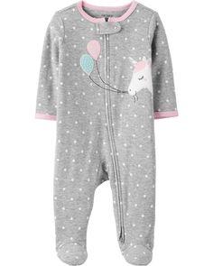 Kiddiezoom Baby Boys Rompers Snug Fit Footed Cotton Pajamas Long Sleeve Onsises Sleepsuit