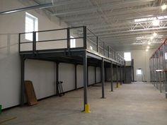 Mezzanine Creates Additional Storage Inside a Warehouse