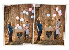 maternity/gender reveal with balloons by Lux Amoris