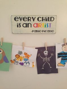 Every Child is an Artist  Hand Painted Wood by HarborLaneStudio, $35.00