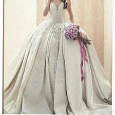 Let charming wedding dress white on DHgate.com get your heart. Besides, ball gown prom dress and ball gown wedding dresses with sleeves are also winners. luxury sweetheart ball gown wedding dresses strapless cathedral train vintage applique embroidery vestido de novias queen belong to you and officesupply can cheer you up.