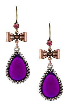 Crystal Teardrop Earrings by Betsey Johnson Jewelry & Watches on @HauteLook