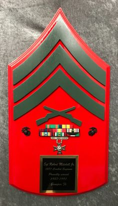 hand crafted custom military plaques constructed with the utmost quality and attention to detail. Once A Marine, Marine Mom, Us Marine Corps, Marine Flag, Military Quotes, Military Gifts, Military Art, Military Shadow Box, Us Marines