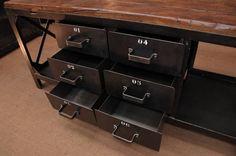 industrial worbench metal drawer cabinet 1950 | FarFetchers.com