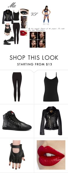"""""""Me vs Nikki Bella. My love #DeanAmbrose ringside and surprise of the progress I've made."""" by theshieldgirls ❤ liked on Polyvore featuring Lyssé Leggings, Reiss, Max Factor, Reebok and American Retro"""