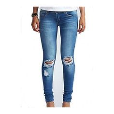 Cutout Design Zipper Closure Skinny Jeans (32 NZD) ❤ liked on Polyvore featuring jeans, blue, cut out skinny jeans, skinny fit denim jeans, print jeans, zip jeans and super skinny jeans