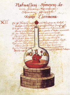 Detail (6/7) of an illustration from the 'Rosarium Philosophorum' of Jaroš Griemiller of Třebsko, 1578.