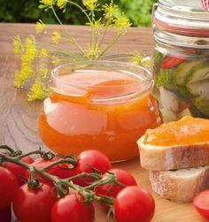 Ein besonderes Gelee aus Tomaten- und Orangensaft