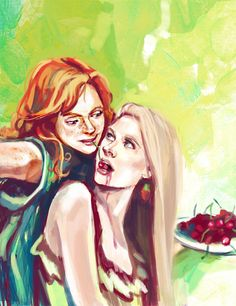 """fistis: """" Luna Lovegood, Ginny Weasley and cherry) """" made some corrections, and now I like it more"""