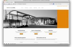 Startseite Internetauftritt Krematorium Landau/Pfalz - Kopfbild (Nachtansicht) und Startnavigation: Feuerbestattung, Historie, Aktuelles.  http://www.juergenwolf.com/neuer-online-auftritt-fuer-krematorium-landau/