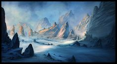 Image result for ice mountain sci fi