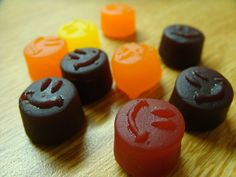 Smiley fruit snacks!! The red ones are always the best!! Mom always bought theses 4 us as kids!:)