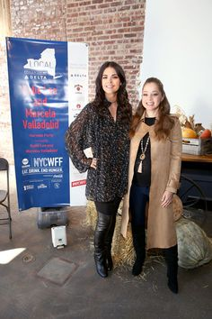 Katie Lee and Marcela Valladolid attend the Harvest Party hosted by Katie Lee and Marcela Valladolid part of LOCAL presented by Delta Air Lines at Highline Stages on October 2016 in New York City. Wine And Food Festival, Katie Lee, Harvest Party, Air Lines, Crock Pots, October 15, Cook Books, Host A Party, Pressure Cooking