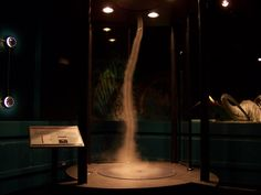 The tornado in Discover World at the McKinley Presidential Library & Museum