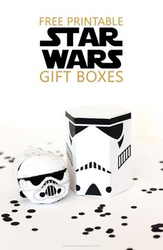 Make these DIY Star Wars Storm Trooper gift boxes for your next Star Wars party or birthday! See projects like this one and more at the Our Mini Link Party!