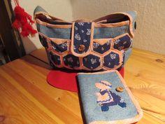 Dívčí taška s peněženkou s džín
