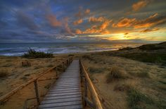 December Sand by jjjohn - walkway to the water.