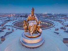 Санкт-Петербург.На крыше Академии Художеств