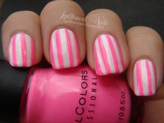hot-pink-stripes. so easy but cute!