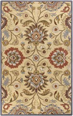 Surya CAE-1116 Caesar Hand Tufted Wool Rug Off-White 4 x 6 Home Decor Rugs Rugs