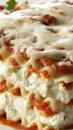 Prepara una deliciosa #Lasagna de tres quesos, no podrás resistirte ante su sabor.