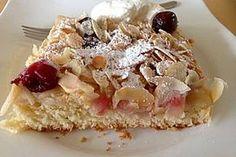 Apfel - Kirsch - Blechkuchen nach Oma Bärbel
