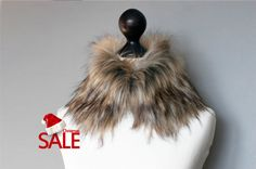 Christmas SALE 10% OFF Faux fur collar in beige and by imali