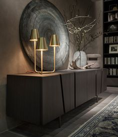 We are here to give you the best interior design inspiration and the best sideboard and buffet ideas for your home decor! Sideboard Decor, Oak Sideboard, Credenza, Modern Sideboard, Contemporary Cabinets, Contemporary Interior Design, Luxury Furniture, Home Furniture, Furniture Design