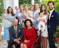 The Swedish royal family at Solinden, summer, 2016.