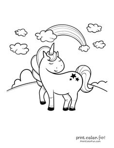 Top 100 magical unicorn coloring pages: The ultimate (free! Mermaid Coloring Pages, Coloring Pages For Girls, Coloring Book Pages, Coloring For Kids, Free Coloring, Happy Unicorn, Unicorn Kids, Magical Unicorn, Cute Unicorn