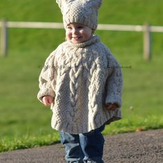 Knitting Pattern - Vanilla Cloud Poncho and Hat Set (Toddler and Child sizes) The Vanilla Cloud Poncho and Hat is warm and cozy set for your little one. These unisex poncho and hat are fancy to knit. Baby Knitting Patterns, Arm Knitting, Knitting For Kids, Knitting For Beginners, Knitting Needles, Knitting Projects, Creative Knitting, Blanket Patterns, Knitted Poncho