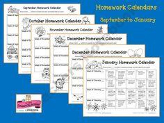 Best ideas about Homework Calendar on Pinterest   Weekly