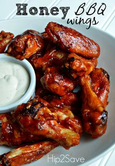 Good idea for and icy, dreary, cold day.... Honey BBQ Baked Chicken Wings Recipe