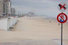 Sandstorm on a beach i Belgium