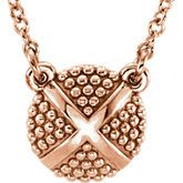 Granulated X Necklace or Center Award winning #jalinjewelers